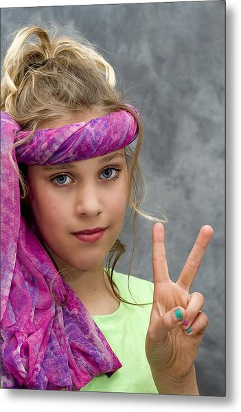 Peace Sign Metal Print by Trudy Wilkerson
