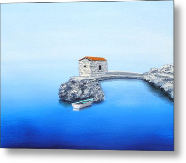 Peaceful Adriatic  Metal Print by Larry Cirigliano
