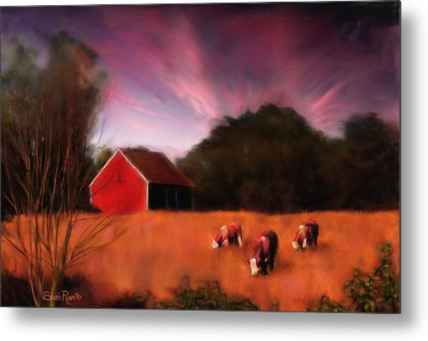 Peaceful Pasture Metal Print by Suni Roveto