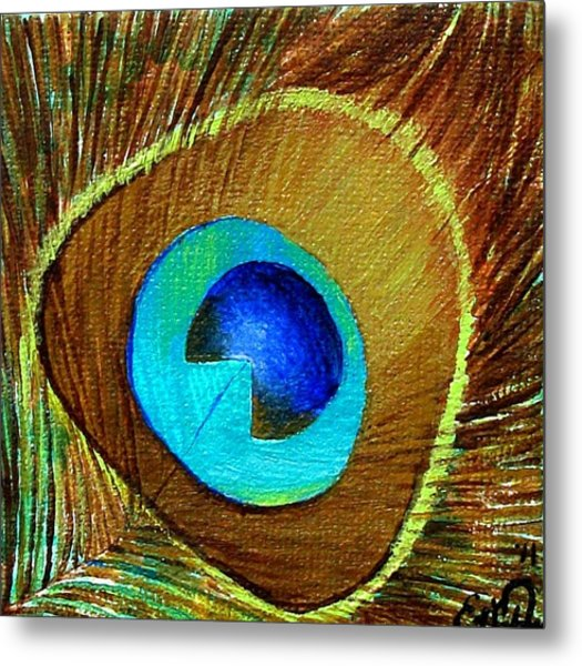 Peacock Feather 1 Metal Print