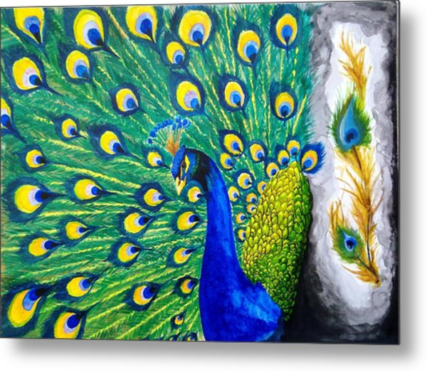 Peacock Metal Print by Swapnil Sharma