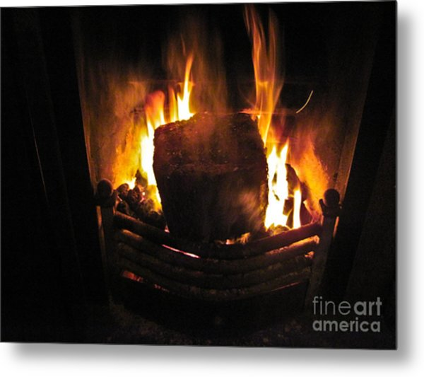 Peat Fire Metal Print by Black Sun Forge