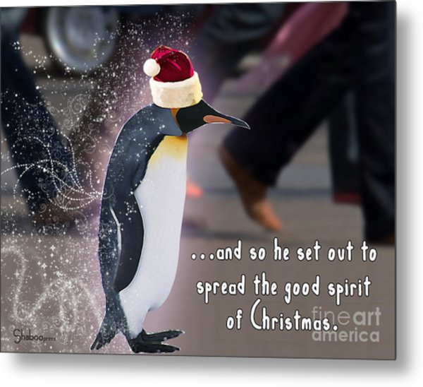 Penguin Holiday Metal Print