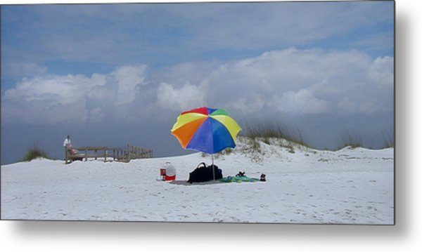 Pensacola Umbrella Metal Print by Ed Golden