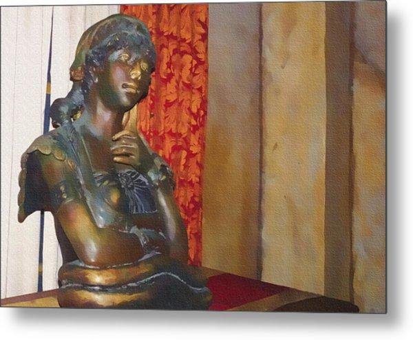 Pensive Statue Metal Print