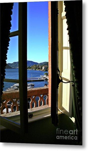 Villa D'este Window Metal Print
