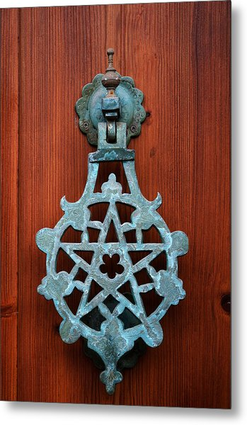 Pentagram Knocker Metal Print