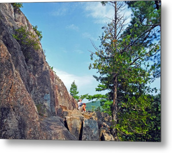 Perched Over Echo Lake Metal Print