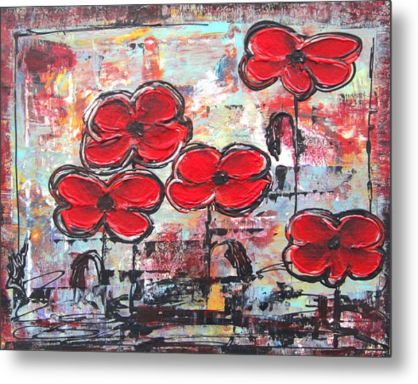 Perfect Poppies Metal Print