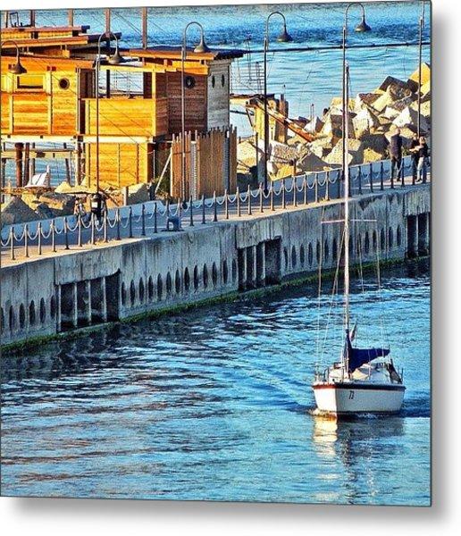 Pescara River And Sea Metal Print