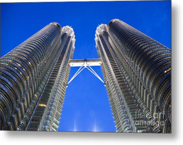 Petronas Tower Bridge Detail Metal Print