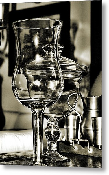 Pewter And Glass Metal Print