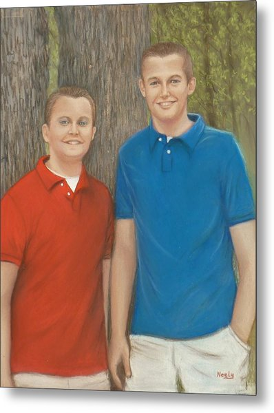 Peyton And Banner Metal Print by Pat Neely