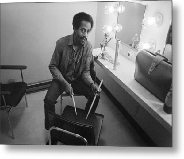 Philip Wilson Drums For Butterfield Blues Band Fillmore East 1968 Metal Print by Jan W Faul