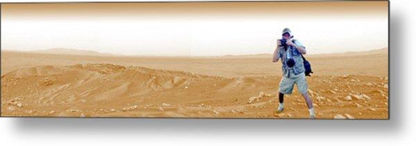 Photographer On Mars Metal Print