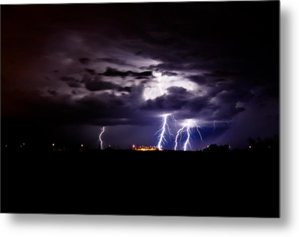 Phx Night Lightning 6 Metal Print by Kenny Jalet