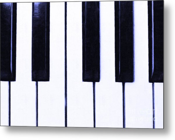 Piano Keys Metal Print by Wingsdomain Art and Photography