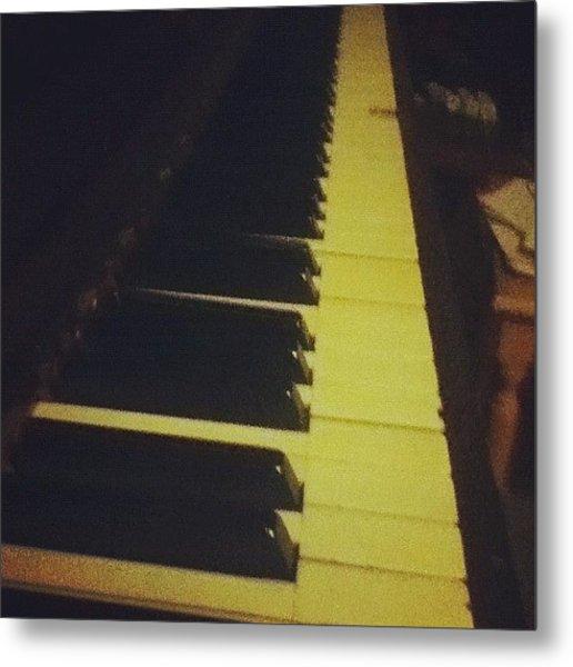 #piano #music #play #edit #keys #player Metal Print