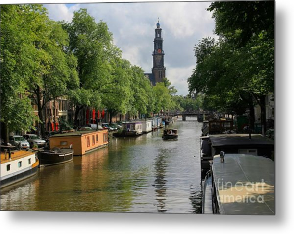 Picturesque Amsterdam Metal Print by Sophie Vigneault