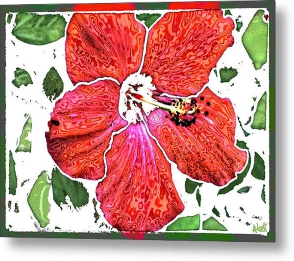 Pieces Metal Print by Marilyn Atwell