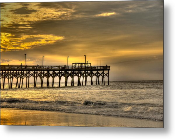 Metal Print featuring the photograph Pier by Francis Trudeau