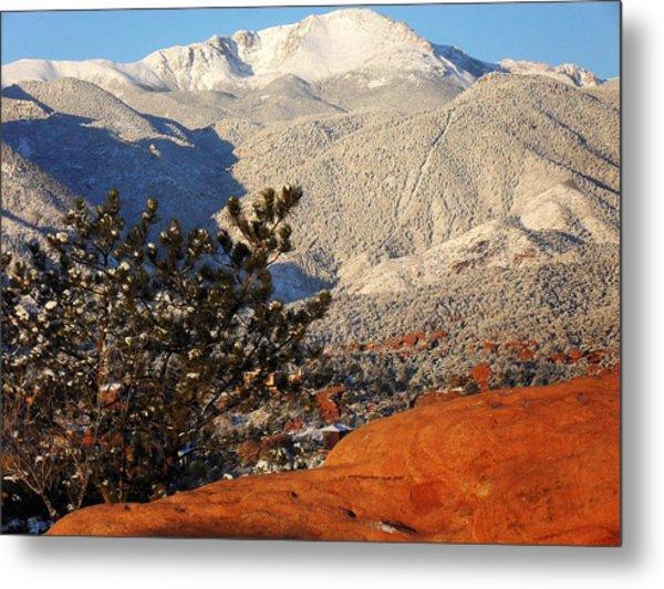 Pikes Peak Stunning Snow Metal Print