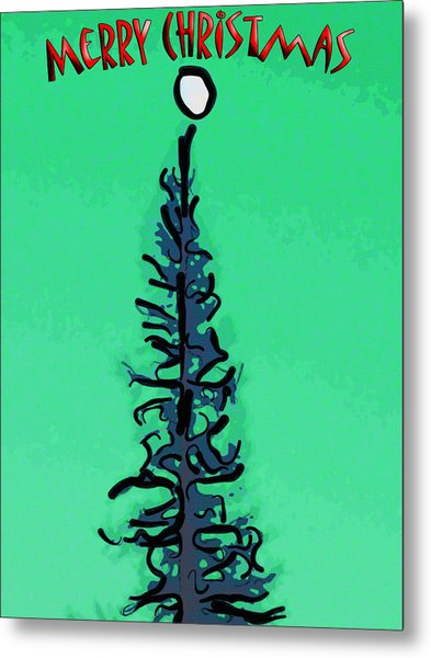 Pine Tree Christmas Metal Print
