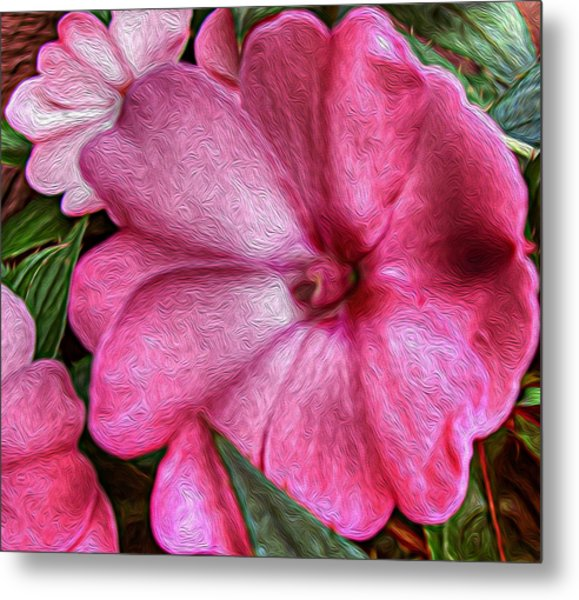 Pink Love Metal Print by Jeanean Gendron