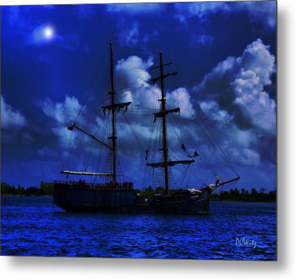 Pirate's Blue Sea Metal Print