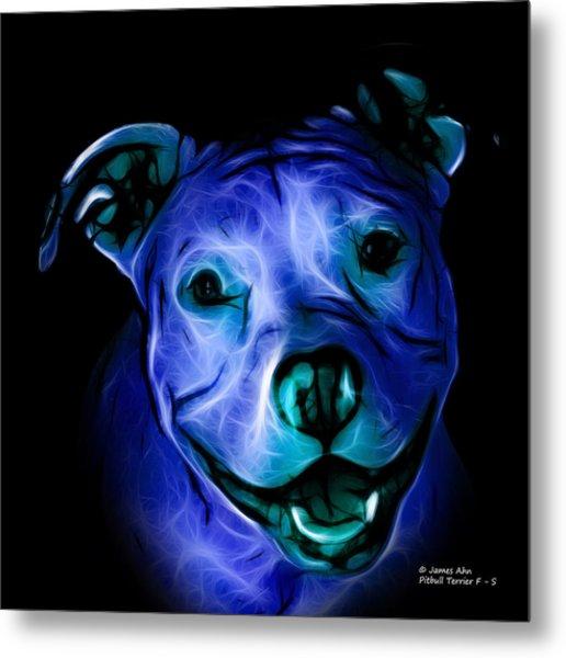 Pitbull Terrier - F - S - Bb - Blue Metal Print
