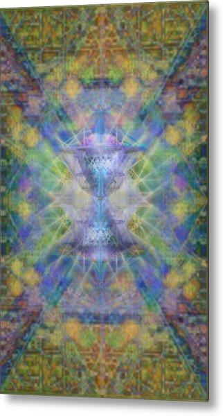 Pivortexspheres On Chalicell Garden Tapestry Ivb Metal Print