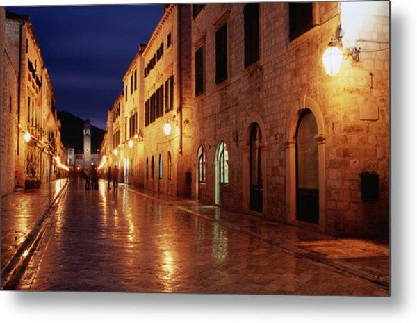 Placa At Twilight, Dubrovnik, Croatia Metal Print by Lonely Planet