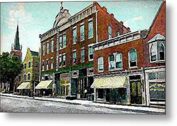 Plainfield Theatre In Plainfield N J 1907 Metal Print by Dwight Goss