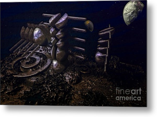 Planet Explorerstation Metal Print by Jan Willem Van Swigchem