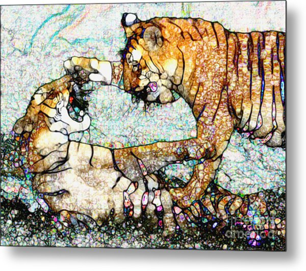 Playing Bengals Metal Print