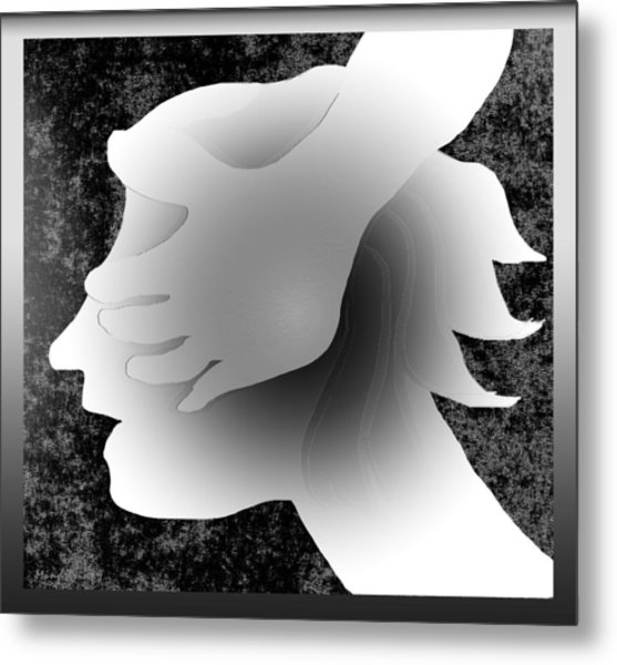 Playing Blindfold Metal Print by Asok Mukhopadhyay