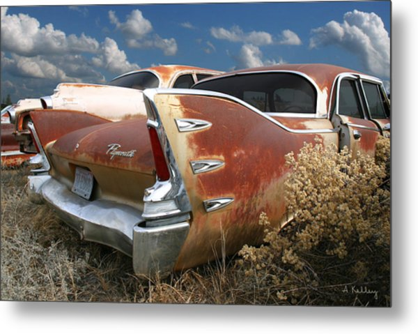 Plymouth Belvedere Metal Print by Andrea Kelley