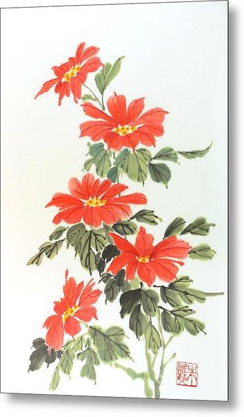 Poinsettias Metal Print by Yolanda Koh