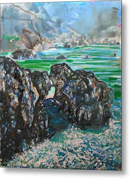 Point Lobos Window Rock Metal Print by Zolita Sverdlove