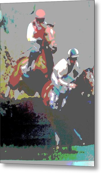 Point To Point Metal Print