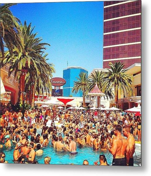 Pool Party At #encorehotel Metal Print