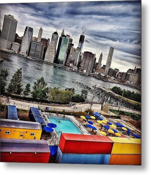 Pool Time - New York Metal Print