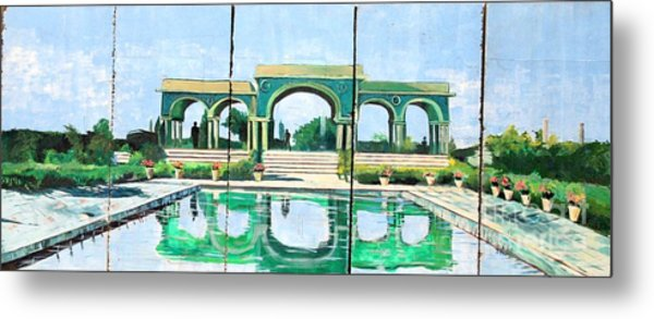 Poolside In Basrah Metal Print by Unknown - Local Iraqi National