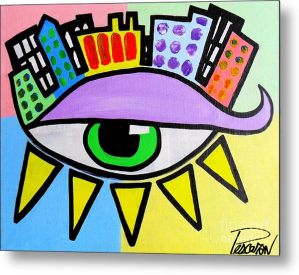 Pop City Eye Metal Print by John Pescoran