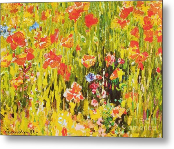 Poppies Metal Print by Pg Reproductions