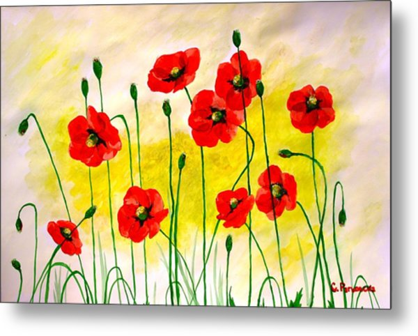 Poppies Metal Print by Sonya Ragyovska