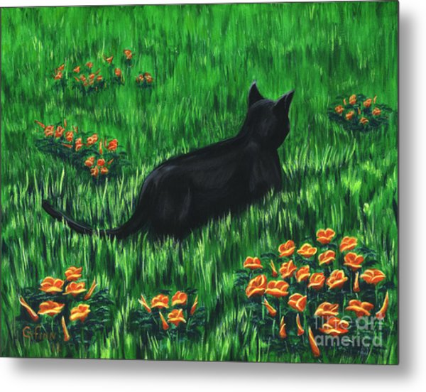Poppy Cat Metal Print