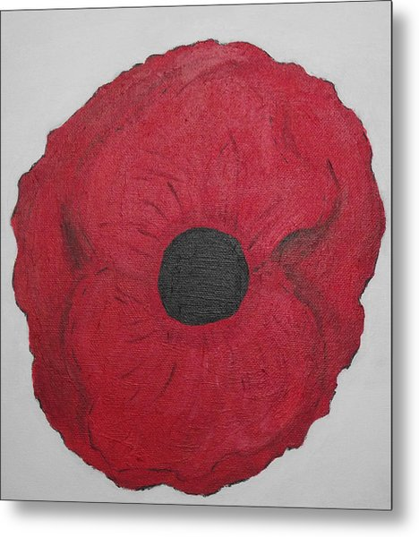 Poppy Of Rememberance Metal Print