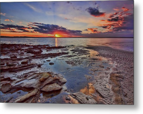 Port Stephens Sunset Metal Print