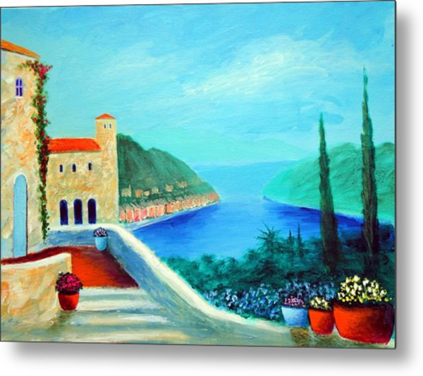 Portafino Pleasures Metal Print